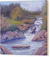 Larsen Falls Wood Print