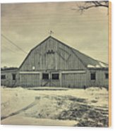 Larsen Road Barn Wood Print