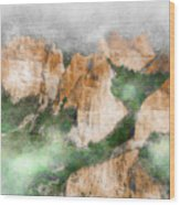 Las Medulas Wood Print