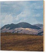 Las Trampas Hills Wood Print
