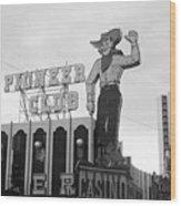 Las Vegas 1980 Bw #13 Wood Print