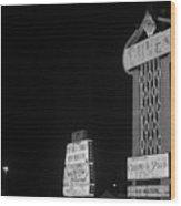 Las Vegas 1980 Bw #7 Wood Print