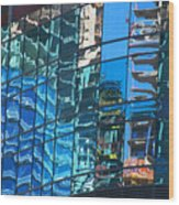 Las Vegas City Center Reflection Wood Print