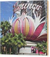 Las Vegas Flamingo Hotel Lotus Blossom Wood Print by Linda Phelps