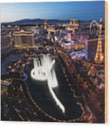 Las Vegas Lights Wood Print