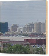 Las Vegas Pano Section 2 Of 3 Wood Print