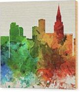 Las Vegas Skyline Panorama Usnvlv-pa03 Wood Print