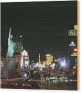 Las Vegas Strip At Night Wood Print