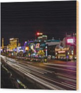 Las Vegas Strip At Night Wood Print