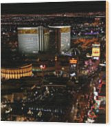 Las Vegas Strip Wood Print by Kristin Elmquist