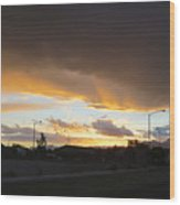 Las  Vegas  Sunset  2 Wood Print