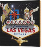 Las Vegas Symbolic Sign Wood Print