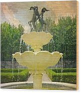 Lasdon Fountain Garden Wood Print
