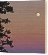 Lassen Sunset Wood Print