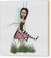 Lassnis The Forest Fairy Wood Print