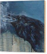 Last Breath Wood Print