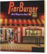 Last Burger On Land Wood Print
