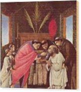 Last Communion Of St Jerome Wood Print