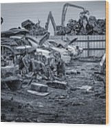 Last Journey - Salvage Yard Wood Print