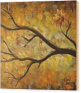 Last Leaf Wood Print