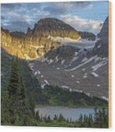 Last Light At Assiniboine Wood Print