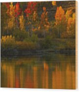 Last Light At Oxbow Bend  Wood Print