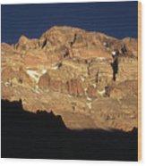 Last Light On Mt Aconcagua Wood Print