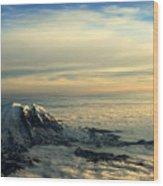 Last Light On Rainier II Wood Print