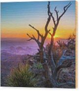 Last Light On The South Rim Wood Print