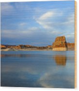 Last Light Over Lake Powell Wood Print