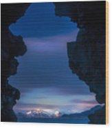 Last Light Through Lava Wood Print