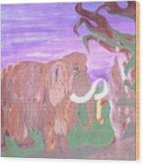 Last Mammoth Wood Print