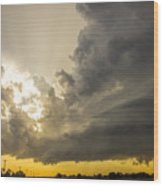 Last Nebraska Supercell Of The Summer 024 Wood Print