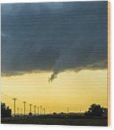 Last Nebraska Supercell Of The Summer 036 Wood Print