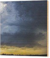 Last Nebraska Supercell Of The Summer 042 Wood Print