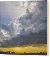 Last Nebraska Supercell Of The Summer 043 Wood Print