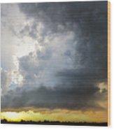Last Nebraska Supercell Of The Summer 045 Wood Print