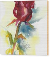 Last Rose Of Summer Wood Print