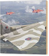 Last Royal Escort - Avro Vulcan Wood Print