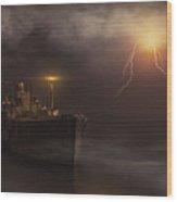 Last Seen In The Bermuda Triangle Wood Print