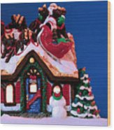 Last Stop For Santa Wood Print