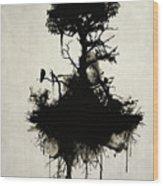 Last Tree Standing Wood Print
