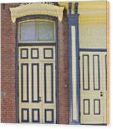 Late 1800s Door Wood Print