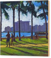 Late Afternoon - Queen's Surf Wood Print