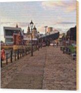 Late Afternoon At Albert Dock Wood Print
