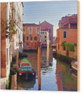 Late Afternoon In Venice Wood Print