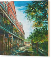 Late Afternoon On The Square Wood Print