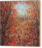 Late Autumn Wood Print