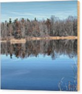 Late Autumn Reflections Wood Print
