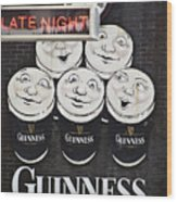 Late Night Guinness Limerick Ireland Wood Print